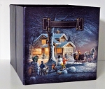Terry Redlin Collapsible Storage Bin - Winter Wonderland