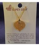 Gold Leaf Necklace - Aspen