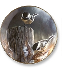 Collectible Plates - Autumn Chickadees