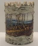 Tree Bark Candle Holder - Autumn Shore
