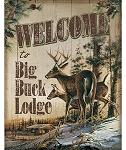 Tin Sign - Big Buck Lodge