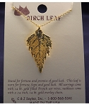 Birch Gold Leaf Necklace