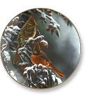 Collectible Plates - Winter Cardinal