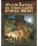 Terry Redlin Tin Sign - Farm Living