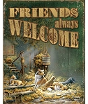 Terry Redlin Tin Sign - Friends Always Welcome