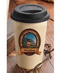 Terry Redlin Travel Cup - Hot Drink Good Friends Cozy Cabin Priceless