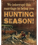 Terry Redlin Tin Sign - We Interrupt this Marriage