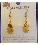 Lacey Oak Gold Leaf Earrings
