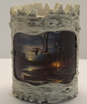 Tree Bark Candle Holder - Morning Glow