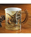 Sculpted Mug - Rustic Retreat: Pheasants