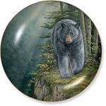 Rustic Retreat Plate - Rock Outcrop: Black Bear