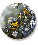 Collectible Plates - Spring Goldfinch