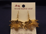 Gold Leaf Earrings - Sugar Maple