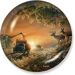 Whitetail Deer II Plate Series - Sunset Harvest