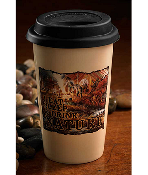 Terry Redlin Travel Cup - I Eat Sleep & Drink Nature