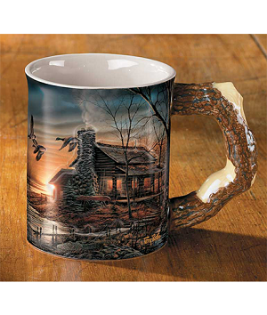 Sculpted Mug - Golden Retreat
