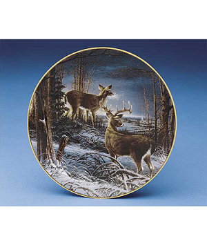 Whitetail Plate Series - Night Watch