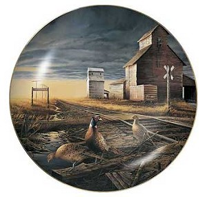 Upland Game Collectible Plate Series - Prairie Skyline